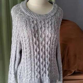 Atasan Kaos Wool Abu2