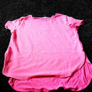 Hot Pink Casul Top