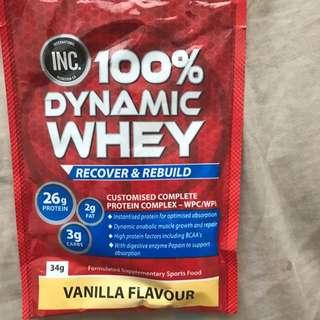 FREE-Dynamic Whey-Vanilla Flavour
