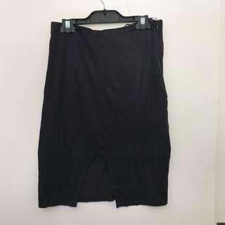 Dark Navy Pencil Skirt