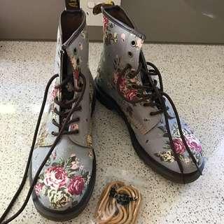 Doc Martins Grey Floral Size 41