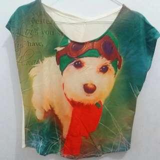 Crop Top Doggie Dog L