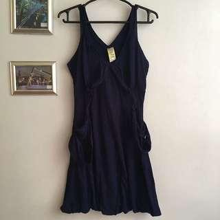 FOLDED & HUNG Navy Blue Dress