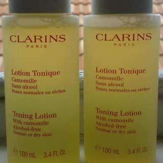 Clarins Toning Lotion Toner 100mL ×2