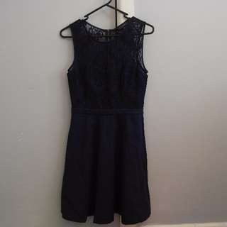 FOREVER NEW Navy Lace Cocktail Dress