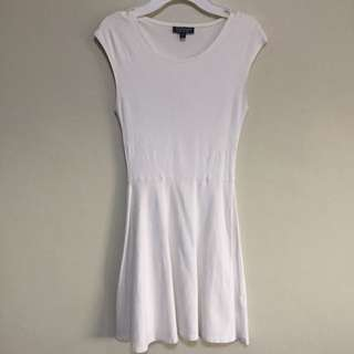 TOPSHOP White Jersey Dress US 4