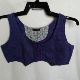 Folded And Hung Purple Bolero