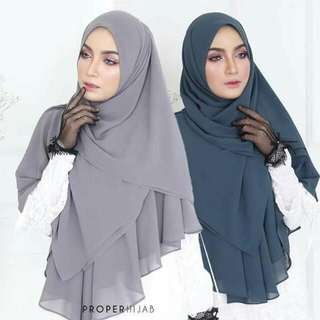 Khimar Le'Amor  Pretty Grey >> Sold Out