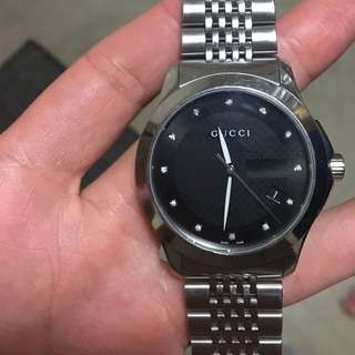 Gucci Timeless Men's Watch With Diamonds