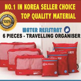 Travelling Pouch / Travelling Organiser 6 Pieces In 1 ( No.1 In Korea )