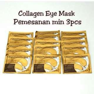 Masker Mata Colagen :  Untuk Menyamarkan Kantung Mataa Hitam,  Mengencangkan Bagian Bawah Mata, Membuat Mata Lebih Fresh..