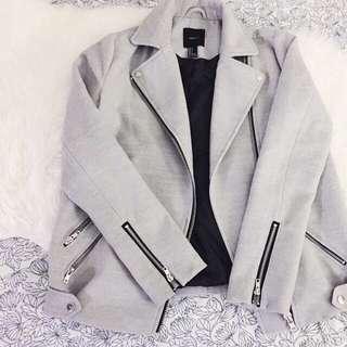 Forever 21 Moto Grey Jacket