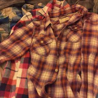 TNA/AE Flannel shirts