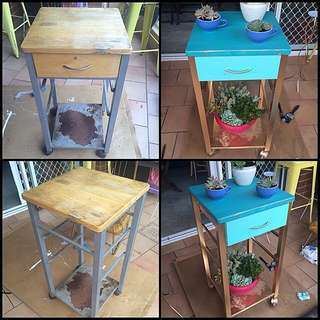 Upcycled Plant Stand/Side Table