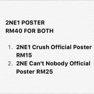 2NE1 Official Poster (Crush Poster & Can't Nobody Poster)