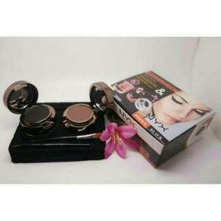 Nyx 2in1 Eyebrow+eyeliner Gel (Black & Brown)