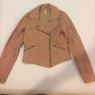 Excellent Condition Just Jeans Peach Leather Jacket