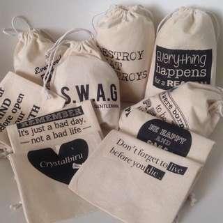 Custom Design Drawstring Pouch Bag
