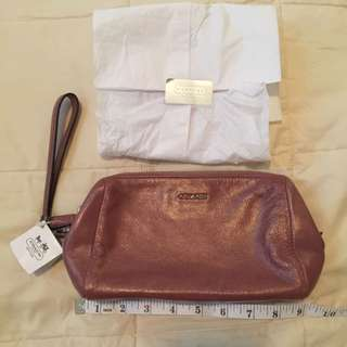 Authentic Coach Pouch With Card Slots Inside