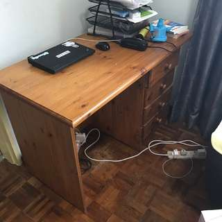 Wooden Study Table with drawers