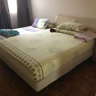 Queen mattress + frame