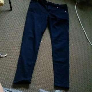 Navy Skinny Jeans From Sportsgirl.