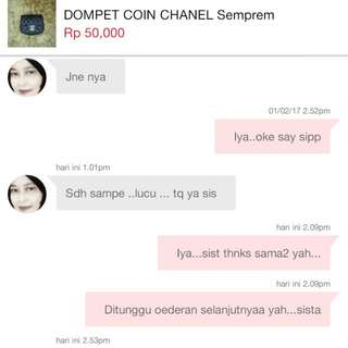 Thanks...for Order Sistaa