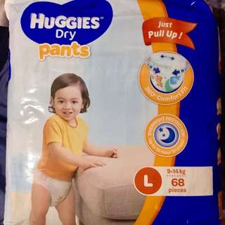 Huggies Dry Pants Large - 68pcs