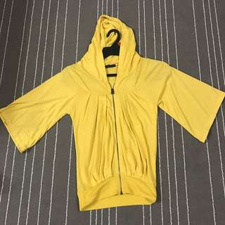 Yellow Shirt With Hoodie