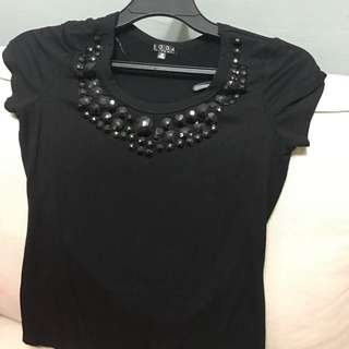 Soda Exchange Top With Black Stones