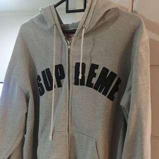 supreme zip up hoodie