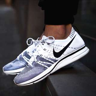 (CURRENTLY NOT SELLING) FYKNIT TRAINER WHITE/BLACK