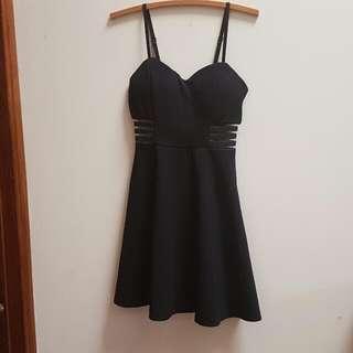 Skater Skirt Cutout Little Black Dress