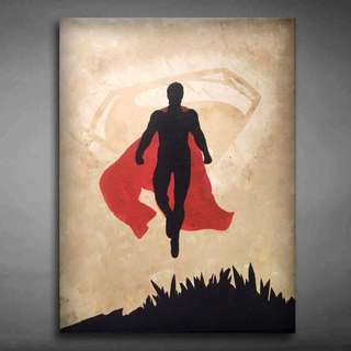 Hand Painted Superman Canvas Art