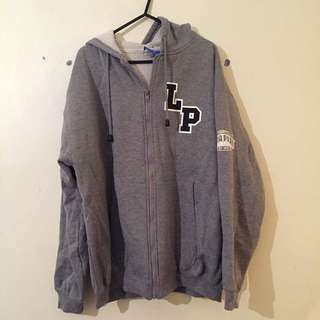 LUNA PARK 80th GREY ZIP-UP JUMPER