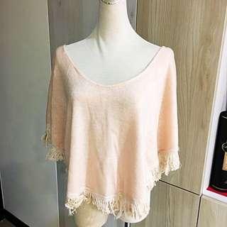 粉嫩 時尚 披肩罩衫