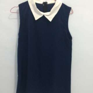 Collar Dress Tanpa Lengan