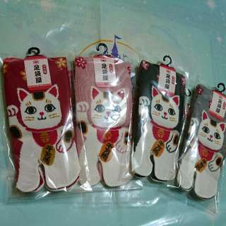夏趴。 日本東京帶回 ✈ 開運招財 千萬兩 貓咪襪子(共四色)