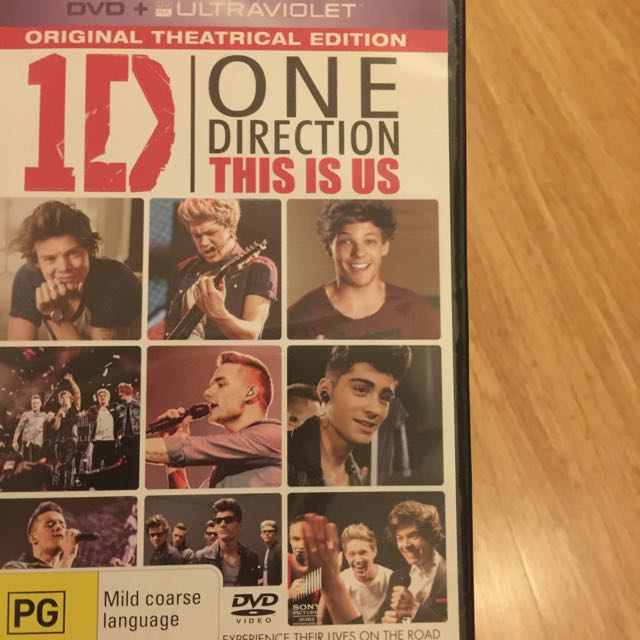 1D THIS IS US DVD