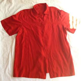 Ruby Red Buttondown