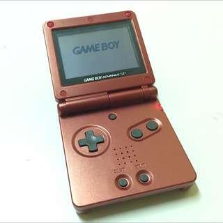 Red Nintendo Gameboy Advanced Sp Free Pokemon Game!
