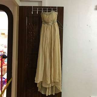 Bare Back Gown, Beige, ROM Gown