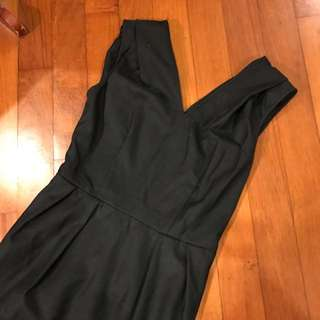 DKNY Cut Label Black Tulip Work Dress US4