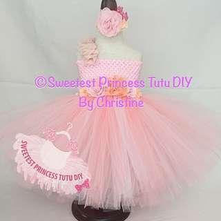 Pink Peach Tutu Dress