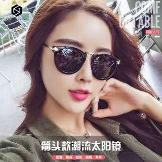 【免運】韓款 潮流 太陽鏡 女 明星款 墨鏡 圓臉 個性時尚 偏光太陽眼鏡 復古 新款 #437