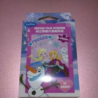 🚚 迪士尼正版 冰雪奇緣拍立得相片邊框貼紙 10張