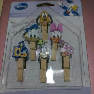 🚚 迪士尼正版 木夾裝飾組 6款+100公分麻繩