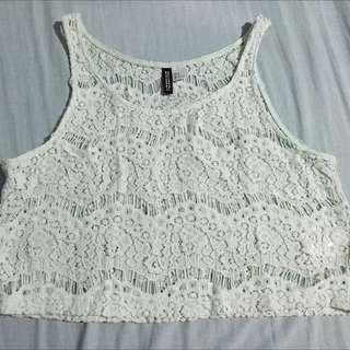 H&M lace crop tops