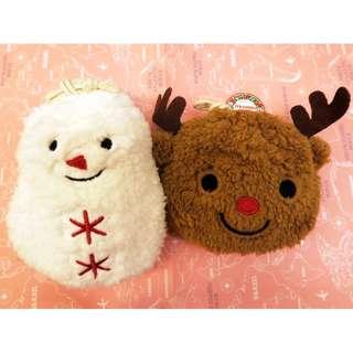 日本超可愛絨毛雪人禮物袋 金莎巧克力 暖暖情人節 現貨