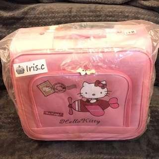 屈臣氏全新品Hello kitty手提行李箱 袋我去旅行 輕便登機箱 旅行箱 收納箱 行李袋